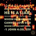 1 John 4:20